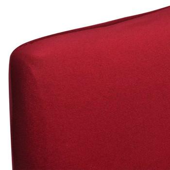 vidaXL Rastezljive navlake za stolice 6 kom bordo
