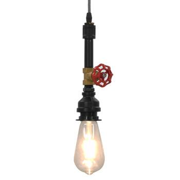vidaXL Viseća svjetiljka s dizajnom slavine crna E27