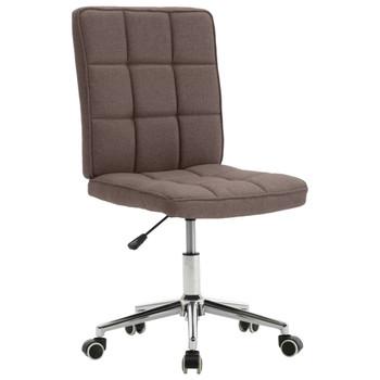 vidaXL Blagovaonska stolica od tkanine smeđe-siva