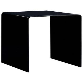 vidaXL Stolić za kavu crni 50 x 50 x 45 cm od kaljenog stakla