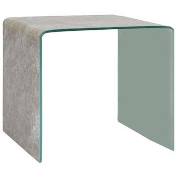 vidaXL Stolić za kavu smeđi mramorni 50 x 50 x 45 cm kaljeno staklo