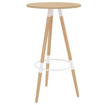 vidaXL Barski stol smeđi 60 x 103 cm MDF i masivna bukovina
