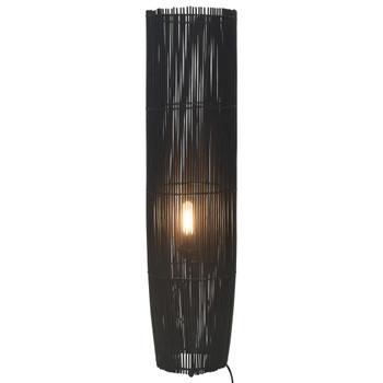 vidaXL Stojeća podna svjetiljka od vrbe crna 72 cm E27