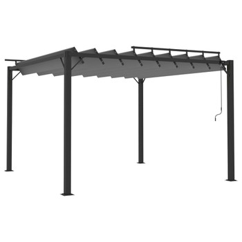 vidaXL Sjenica s rešetkastim krovom 3x3 m antracit tkanina i aluminij