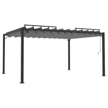 vidaXL Sjenica s rešetkastim krovom 3x4 m antracit tkanina i aluminij