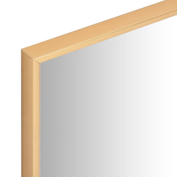 vidaXL Ogledalo zlatno 40 x 40 cm