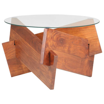 vidaXL Stolić za kavu 60 cm od masivnog bagremovog drva