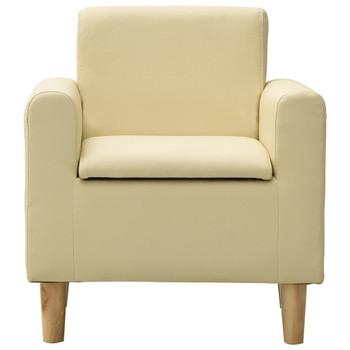 vidaXL Dječja sofa od umjetne kože krem bijela