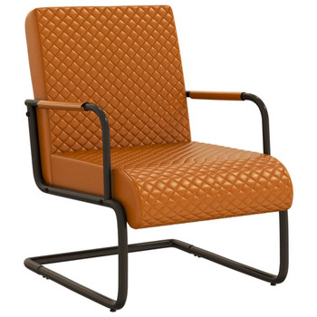 vidaXL Konzolna stolica od umjetne kože smeđa