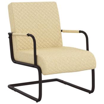 vidaXL Konzolna stolica od umjetne kože krem