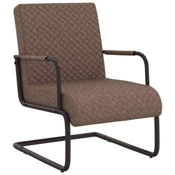 vidaXL Konzolna stolica od umjetne kože tamnosmeđa