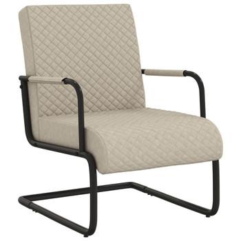 vidaXL Konzolna stolica od umjetne kože svjetlosiva