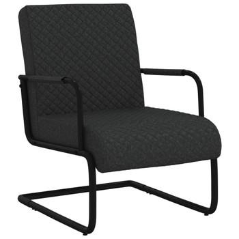vidaXL Konzolna stolica od umjetne kože crna