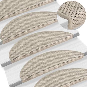 vidaXL Samoljepljivi otirači za stepenice 15 kom 65 x 25 cm smeđe-sivi
