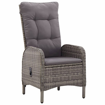 vidaXL Vrtne stolice 2 kom od poliratana sive