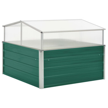 vidaXL Staklenik zeleni 100 x 100 x 77 cm od pocinčanog čelika