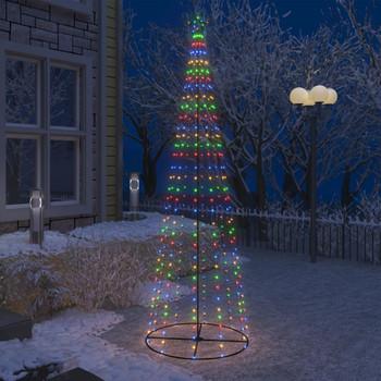 vidaXL Stožasto božićno drvce s 330 šarenih LED žarulja 100 x 300 cm