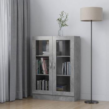 vidaXL Vitrina siva boja betona 82,5 x 30,5 x 115 cm od iverice
