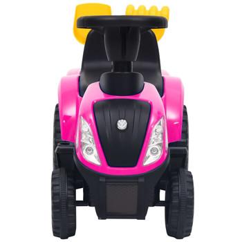 vidaXL Dječji traktor New Holland ružičasti