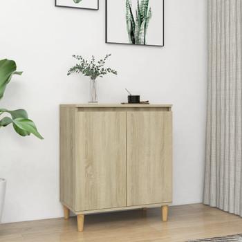 vidaXL Komoda s nogama od masivnog drva boja hrasta 60x35x70cm iverica