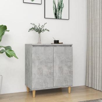 vidaXL Komoda s drvenim nogama siva boja betona 60x35x70 cm od iverice