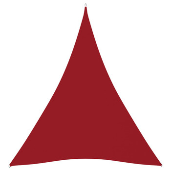 vidaXL Jedro protiv sunca od tkanine Oxford trokutasto 3x4x4 m crveno