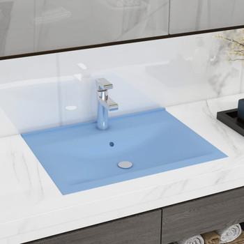 vidaXL Luksuzni umivaonik mat svjetloplavi 60 x 46 cm keramički
