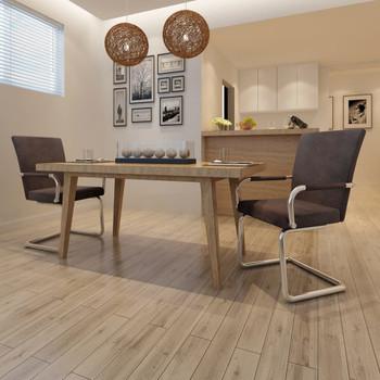 vidaXL Konzolne blagovaonske stolice leathaire 2 kom smeđe