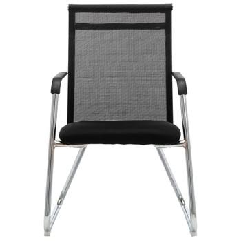 vidaXL Uredska stolica crna od mrežaste tkanine