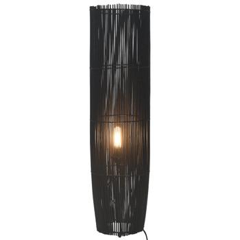 vidaXL Stojeća podna svjetiljka od vrbe crna 61 cm E27