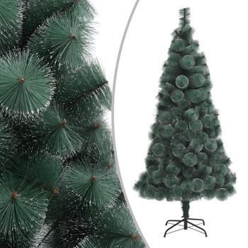 vidaXL Umjetno božićno drvce s LED svjetlima zeleno 150 cm PVC i PE