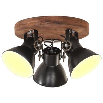 vidaXL Industrijska stropna svjetiljka 25 W tamnocrna 42 x 27 cm E27