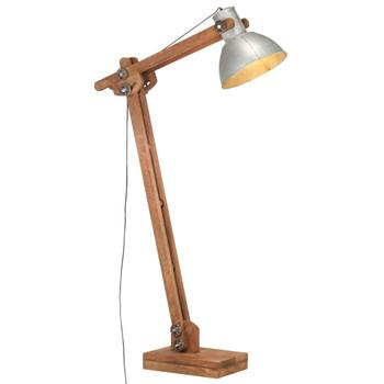vidaXL Podna svjetiljka srebrna od masivnog drva manga E27