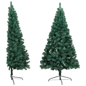 vidaXL Umjetna polovica božićnog drvca sa stalkom zelena 150 cm PVC