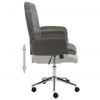 vidaXL Uredska stolica od tkanine tamnosiva