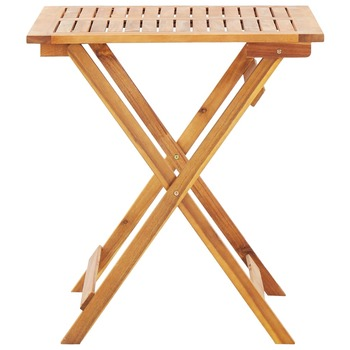 vidaXL Sklopivi vrtni stol od masivnog bagremovog drva 70 x 70 x 75 cm