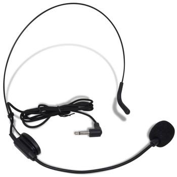 VHF prijemnik s bežičnim mikrofonom i naglavnim slušalicama