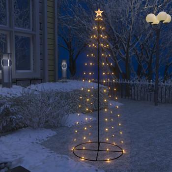 vidaXL Stožasto božićno drvce sa 100 bijelih LED žarulja 70 x 180 cm