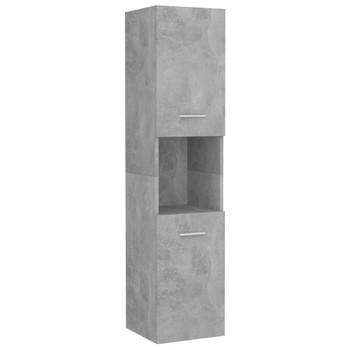 vidaXL Kupaonski ormarić siva boja betona 30 x 30 x 130 cm od iverice