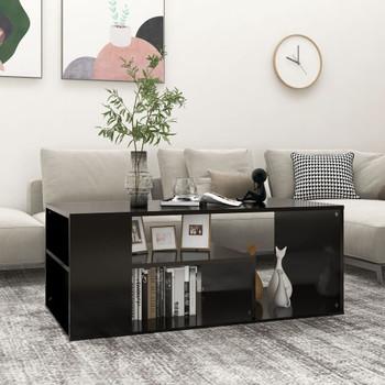 vidaXL Stolić za kavu crni 100 x 50 x 40 cm od iverice