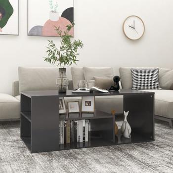 vidaXL Stolić za kavu sivi 100 x 50 x 40 cm od iverice