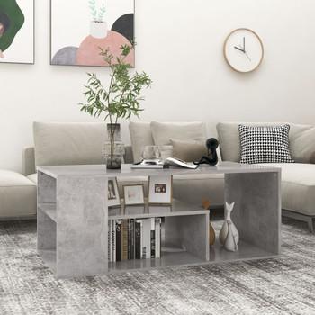 vidaXL Stolić za kavu siva boja betona 100 x 50 x 40 cm od iverice