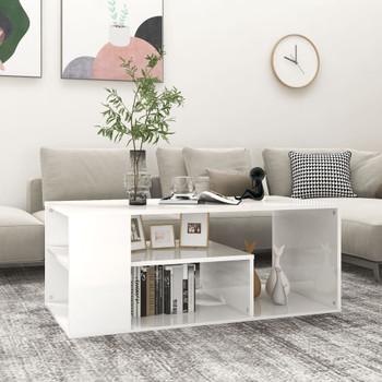 vidaXL Stolić za kavu visoki sjaj bijeli 100 x 50 x 40 cm od iverice