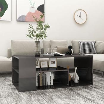 vidaXL Stolić za kavu visoki sjaj sivi 100 x 50 x 40 cm od iverice