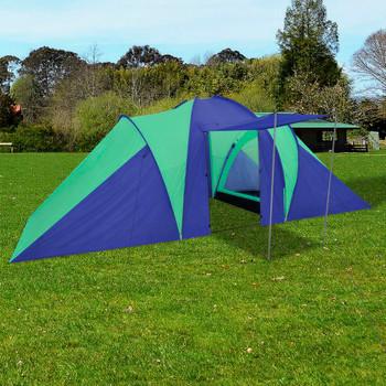Šator za kampiranje za 6 osoba tamno plava/zelena