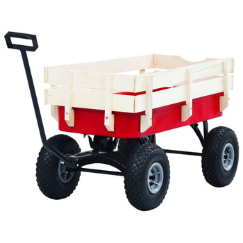 vidaXL Ručna kolica 150 kg crvena