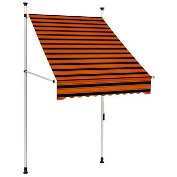 vidaXL Tenda na ručno uvlačenje 100 cm narančasto-smeđa