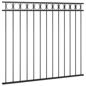 vidaXL Panel za ogradu čelični 1,7 x 1,5 m crni