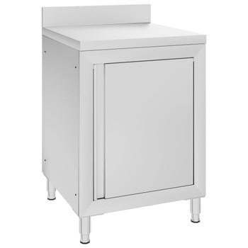 vidaXL Komercijalni radni stol s ormarićem 60 x 60 x 96 cm od čelika