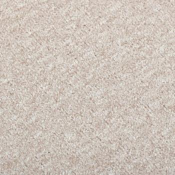 vidaXL Podne pločice s tepihom 20 kom 5 m² 50 x 50 cm svjetlobež